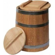 """Кадка из дуба для воды и  солений с гнетом 15 л ТМ """"Бацькина баня"""", арт. 30345"""