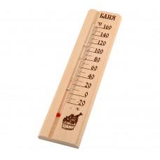 "Термометр для бани и сауны в блистере ""Баня"" 295*55*15 мм, арт. 27010"
