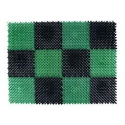 Коврик Modull 42х60 см, чёрно-зелёный, ТМ Blåbär (Швеция), арт. 92160