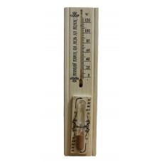 """Термометр для бани и сауны с песочными часами в блистере"""" С легким паром"""", арт. 27003"""