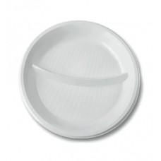 Тарелка  белая  d 205  2 секции  (12 шт/упак), арт. 71013