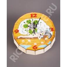 Часы-бочонок «Парная машина»