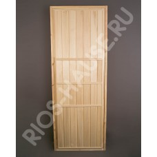 "Дверь глухая 1900х700, класс А, коробка из липы, ТМ ""Бацькина баня"" , арт. 30403"