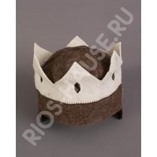 """Шапка для бани """"Корона-Царя"""" без надписи ТМ  """"Бацькина баня"""", арт. 10512"""
