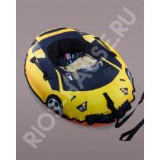 Санки надувные «Cars», желтый диаметр 110/85 см.