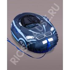 Санки надувные «Super Cars», синий диаметр 125/100 см.